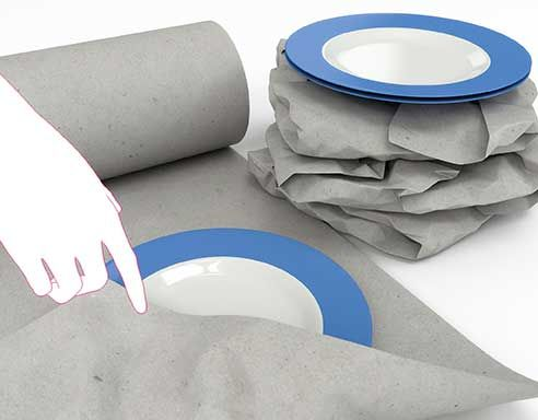 Bastpapier Secare-Rollen grau, 60 g/m², Großmenge / kg