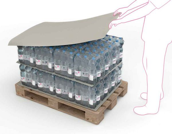 Zwischenlagekarton grau,118x78cm, 600kg