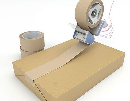 Papierklebeband Handrolle braun