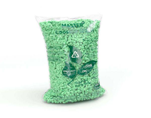 Verpackungschips Loose Fill Sack grün 500 Liter
